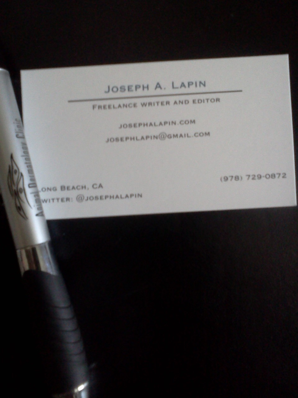 My Freelancing Business Cards