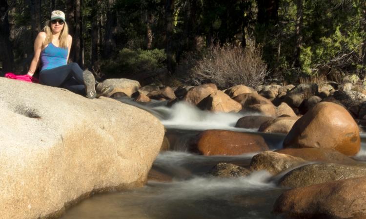 Bianca at Yosemite on the rocks